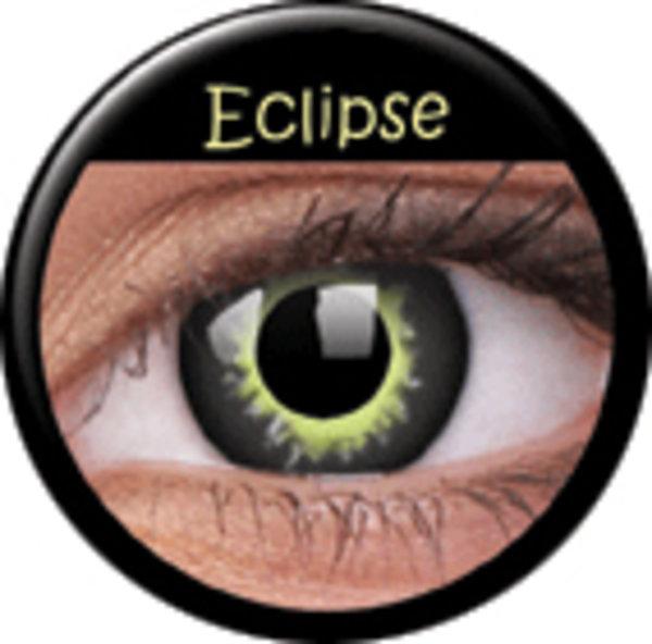 ColorVue Crazy-Kontaktlinsen - Eclipse (2 St. 3-Monatslinsen) – mit Stärke