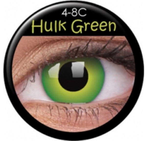 ColorVue Crazy-Kontaktlinsen - Hulk Green (2 St. 3-Monatslinsen) – mit Stärke