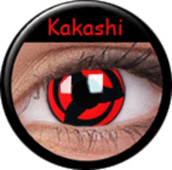 ColorVue Crazy-Kontaktlinsen - Kakashi (2 St. 3-Monatslinsen) – mit Stärke