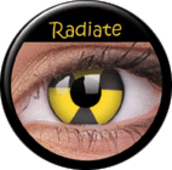 ColorVue Crazy-Kontaktlinsen - Radiate (2 St. 3-Monatslinsen) – ohne Stärke
