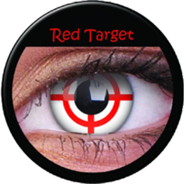 ColorVue Crazy-Kontaktlinsen - Red Target (2 St. 3-Monatslinsen) – ohne Stärke