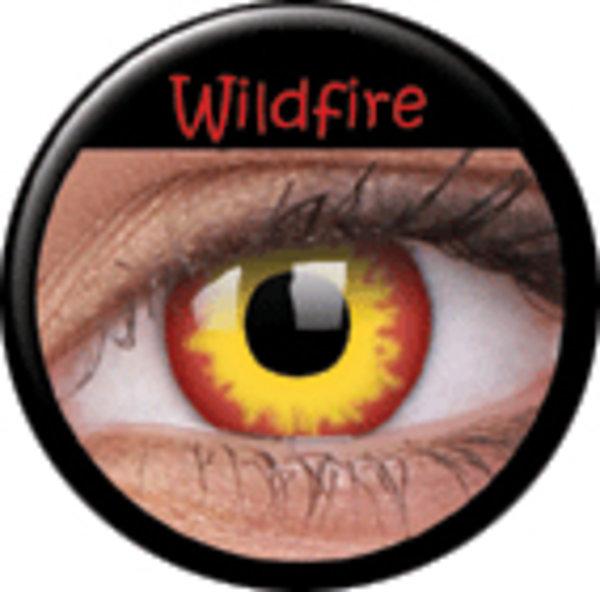 ColorVue Crazy-Kontaktlinsen - Wildfire (2 St. 3-Monatslinsen) – mit Stärke