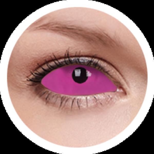 ColorVue Crazy Kontaktlinsen UV 22mm - Radien Pink (2 St. 6-Monat-Linsen) – ohne Stärke