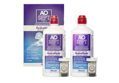 Aosept Plus 2 pack 2x360 ml mit HydraGlyde
