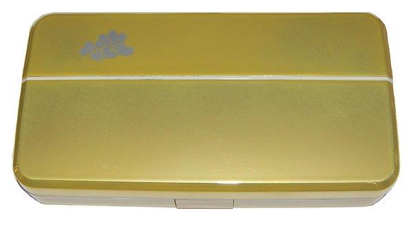 Etui mit zwei inneren Behälter - Gold