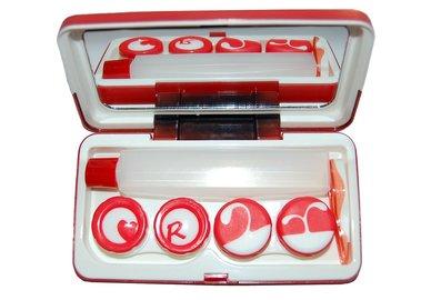 Etui mit zwei inneren Behälter - Rot