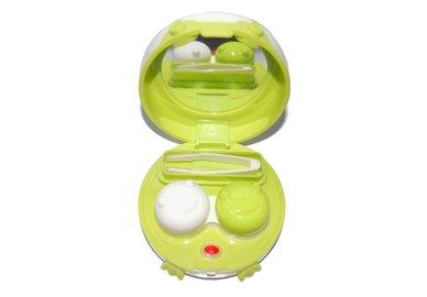 Etui für Kontaktlinsen - vibrierend, rund mit Füßchen - Grün