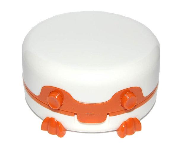 Etui für Kontaktlinsen - vibrierend, rund mit Füßchen - Braun