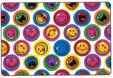 Mikrofaser Brillenputztuch Smiley  – Smiley weiß