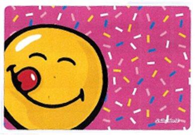 Mikrofaser Brillenputztuch Smiley  – rosa