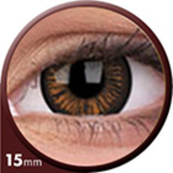 Phantasee Big Eyes - Charming Brown (2 St. 3-Monatslinsen) – mit Stärke - Ausverkauf