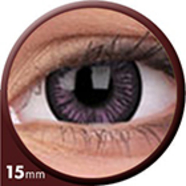 Phantasee Big Eyes - Passionate Purple (2 St. 3-Monatslinsen) – ohne Stärke - Ausverkauf
