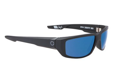 Sonnenbrille SPY DIRTY MO Matte Black Blue - Polar