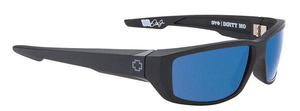 Sonnenbrille SPY DIRTY MO Matte Black Blue - Polar