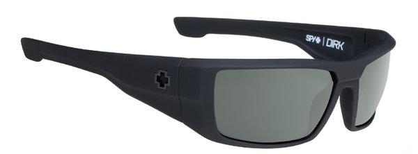 Sonnenbrille SPY DIRK - Soft Matte Black - happy polar