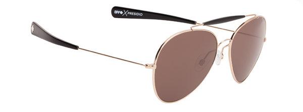 Sonnenbrille SPY PRESIDIO - Gold / Black - happy