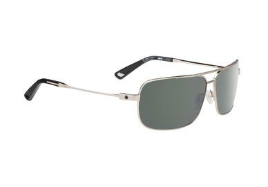 Sonnenbrille SPY Leo GP Silver - Happy grey green - polar