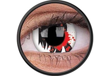 ColorVue Crazy Kontaktlinsen - Bloodscream (2 St. 3-Monatslinsen) – ohne Stärke
