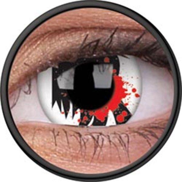 ColorVue Crazy Kontaktlinsen - Bloodscream (2 St. Jahreslinsen) – ohne Stärke