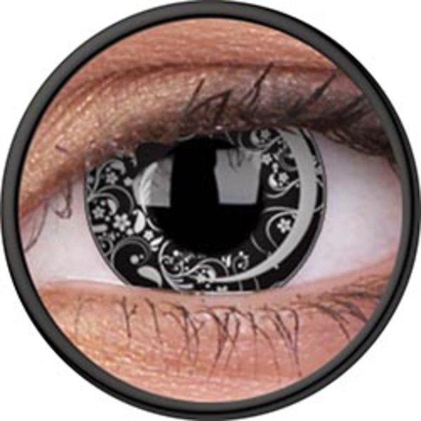 ColorVue Crazy Kontaktlinsen - Moon Art (2 St. Jahreslinsen)) – ohne Stärke