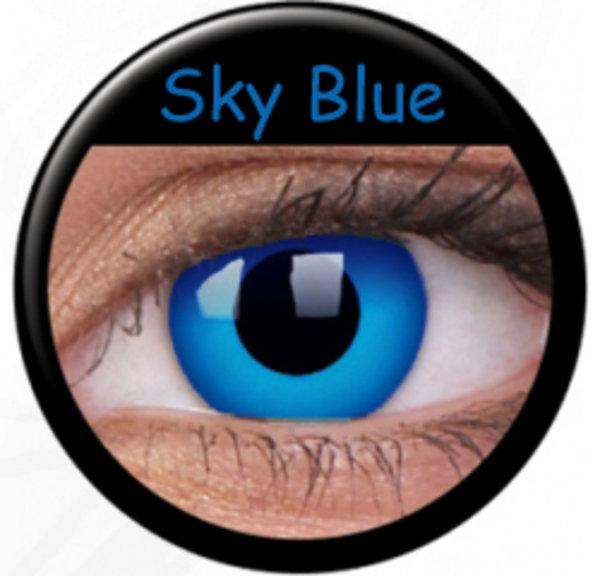 ColourVue Crazy Kontaktlinsen - Sky Blue - dark (2 St. Jahreslinsen) – ohne Stärke - exp.04/2020
