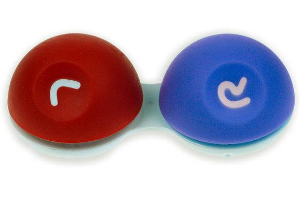 3D Behälter mit Gummioberfläche rot-blau