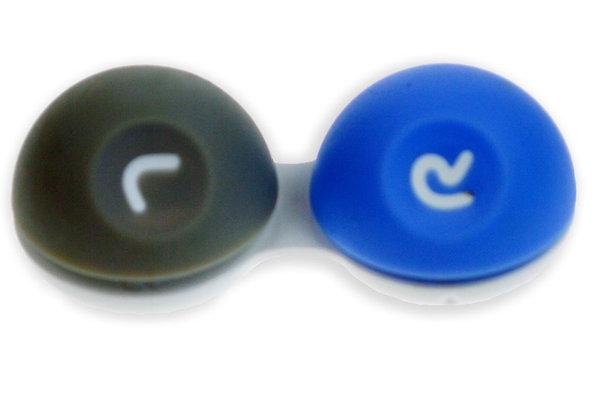 3D Behälter mit Gummioberfläche blau-grau