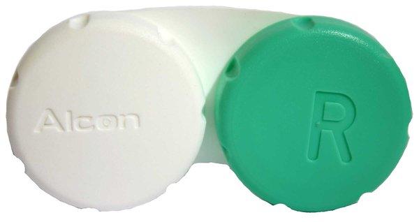 Behälter für Kontaktlinsen grün - weiß