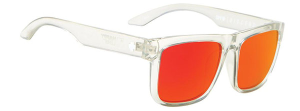 Sonnenbrille SPY DISCORD Clear - red