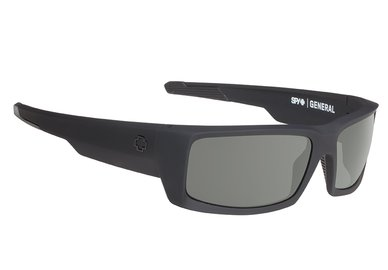 Sonnenbrille SPY GENERAL - Soft Matte Black - happy polar