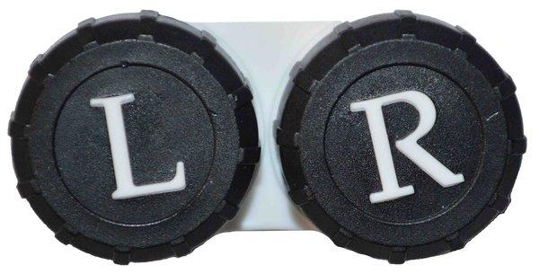 Klassischer Behälter farbig - schwarz