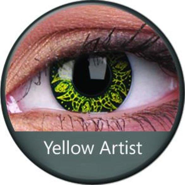 Phantasee Crazy Kontaktlinsen - Yellow Artist (2 St. Jahreslinsen) – ohne Stärke