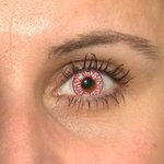 ColorVue Crazy-Kontaktlinsen - Blood Shot (2 St. 3-Monatslinsen) – ohne Stärke