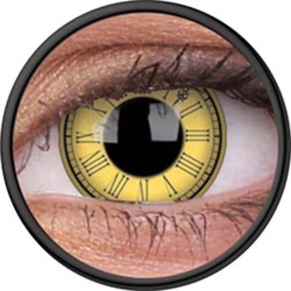ColorVue Crazy-Kontaktlinsen - Timekeeper (2 St. 3-Monatslinsen) – ohne Stärke