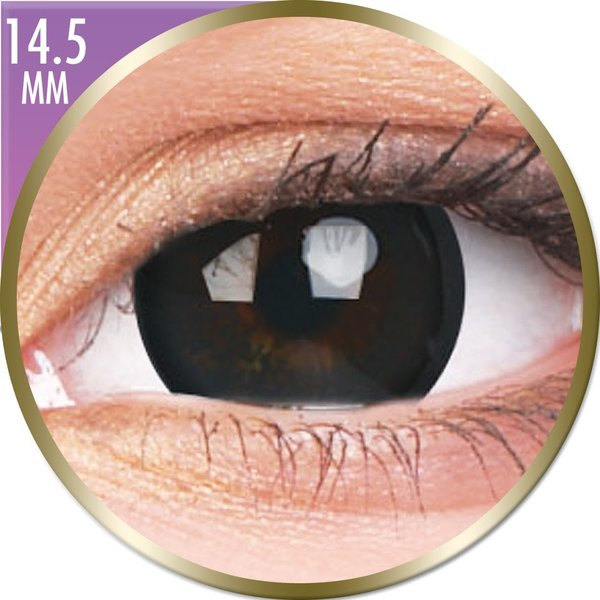 Phantasee Big Eyes - Brilliant Black (2 St. Monatslinsen) – ohne Stärke