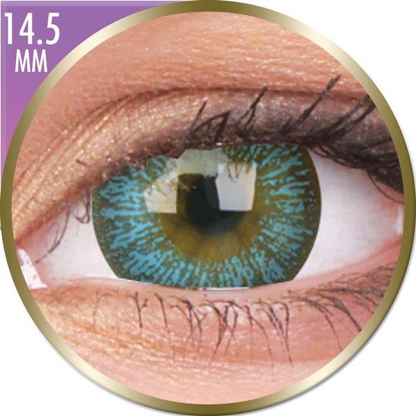 Phantasee Big Eyes - Maya Blue (2 St. Monatslinsen) – mit Stärke - Ausverkauf
