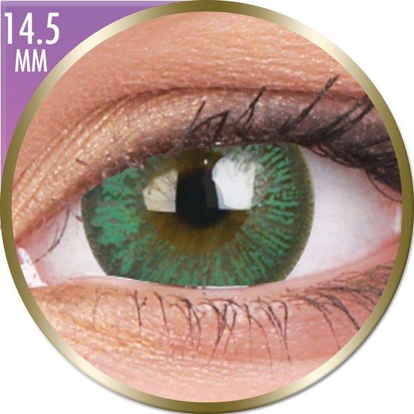 Phantasee Big Eyes - Paris Green (2 St. Monatslinsen) – ohne Stärke - Ausverkauf