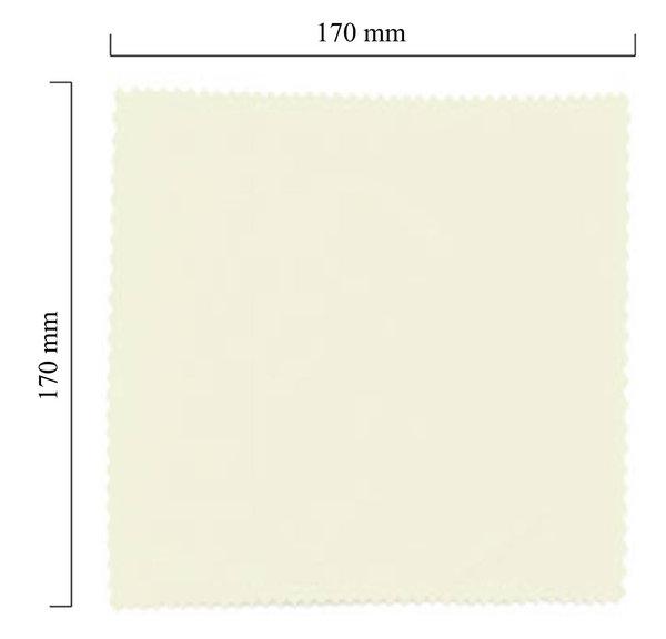 Mikrofaser Brillenputztuch – weiß 170x170