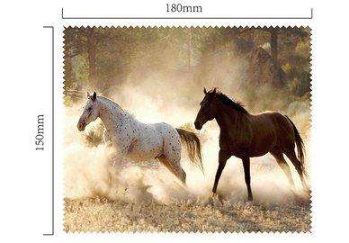 Mikrofaser Brillenputztuch – Pferde