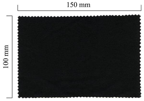 Mikrofaser Brillenputztuch – schwarz 100x150