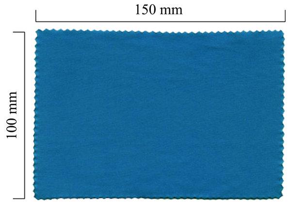 Mikrofaser Brillenputztuch – blau 100x150