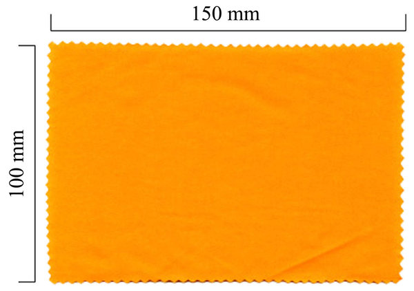 Mikrofaser Brillenputztuch – orange 100x150