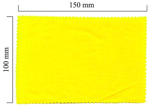 Mikrofaser Brillenputztuch – gelb 100x150