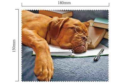 Mikrofaser Brillenputztuch – Hund