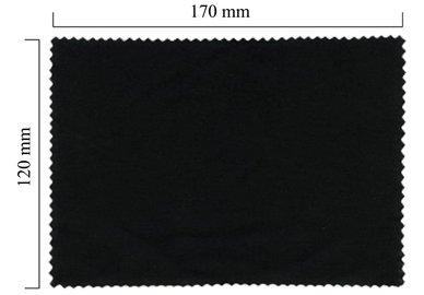 Mikrofaser Brillenputztuch – schwarz 120x170