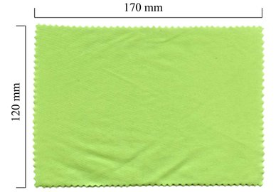 Mikrofaser Brillenputztuch – grün 120x170