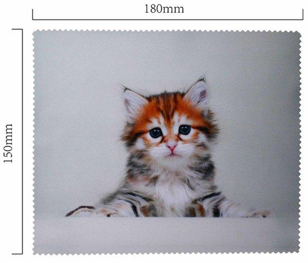 Mikrofaser Brillenputztuch – Liegendes Kätzchen