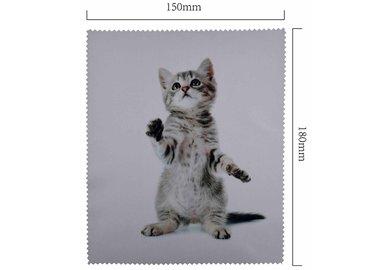 Mikrofaser Brillenputztuch – Stehendes Kätzchen
