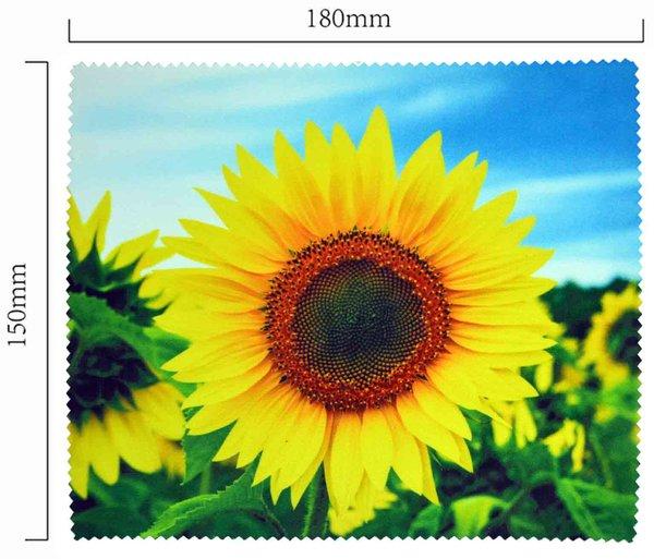 Mikrofaser Brillenputztuch – der Sonnenblume