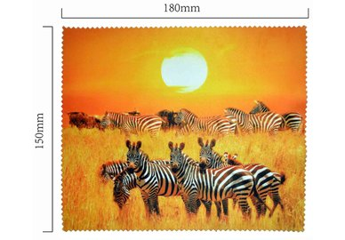 Mikrofaser Brillenputztuch – Zebras